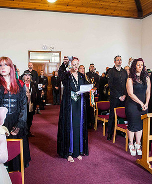 A funeral was held at the Trelawny Chapel at the Pernmount Crematorium near Truro in Cornwall, for Eron the Wizard, real name Ian Wilson. 28/05/2015 See SWNS story SWWIZARD.